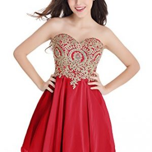 2016 New Arrival Homecoming Dresses A Line Sweetheart With Beads (Red,14)