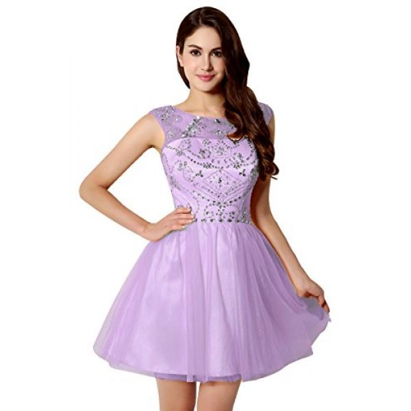 Belle House Women\'s Short Prom Ball Gown Lilac Tulle Sweet 16 ...
