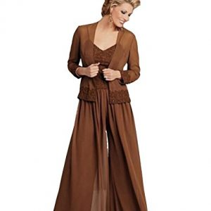 Ai Maria Women's Plus Size Mother of The Bride Pants Suits with Jacket Applique