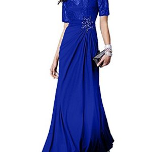 Charm Bridal New A-line Prom Dress Ball Dress Bride Mother Dresses Short sleeves -16-Royal Blue
