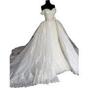 Lace Mermaid Wedding Dress Black