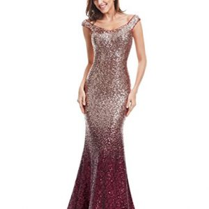 Ever-Pretty Womens Long Sequins Formal Maxi Dress 14 US Red