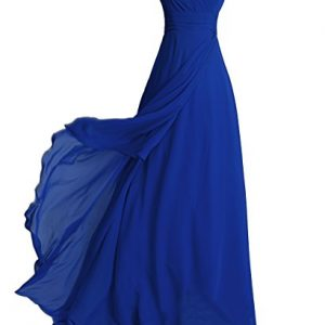 FAIRY COUPLE Chiffon Strapless Bridesmaids Dress D0072 (US6,Royal Blue)
