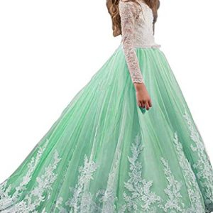 Girls Pageant Dresses Applique Ball Gown Tulle Princess Prom Party Dresses16 US Mint