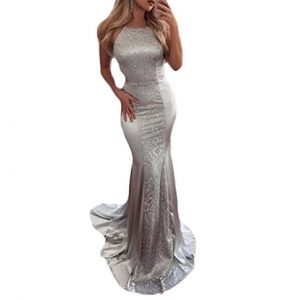 Gotidy Long Sexy Backless Mermaid Prom Ball Gowns Sequins Evening Dresses For Women Formal G24