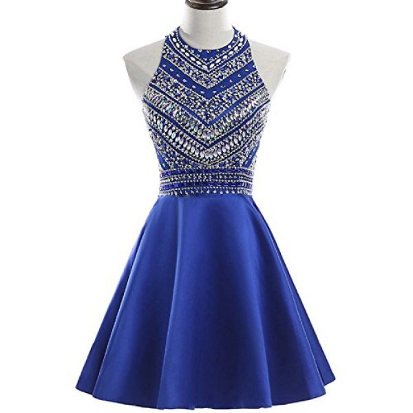 HEIMO Women\'s 2017 Sparkly Beaded Homecoming Dresses Sequined Prom ...
