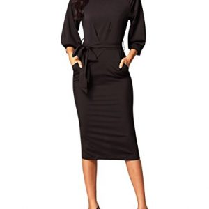 HNNATTA Business Dresses For Women, Spring New Arrival Clothes Midi Knee Length Sheath Dress Coffee Small