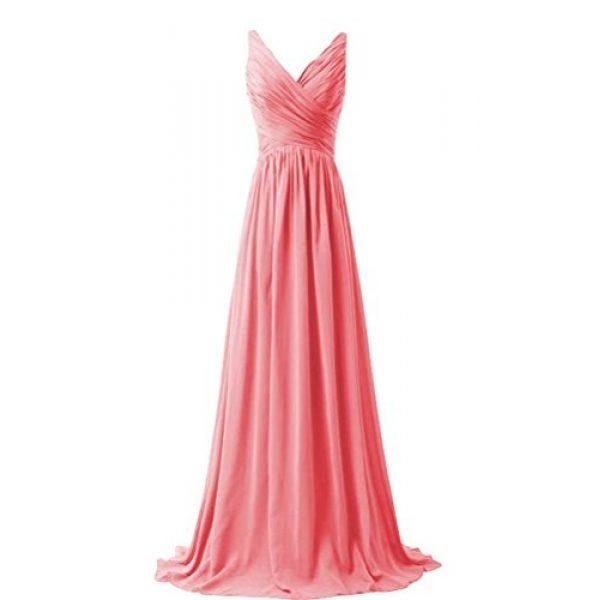 Chiffon Coral Bridesmaid Dresses
