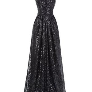 Kate Kasin Women's Sequins V-neck Ball Evening Prom Gown Bridesmaid Dress Bodycon Size US8 KK199-4