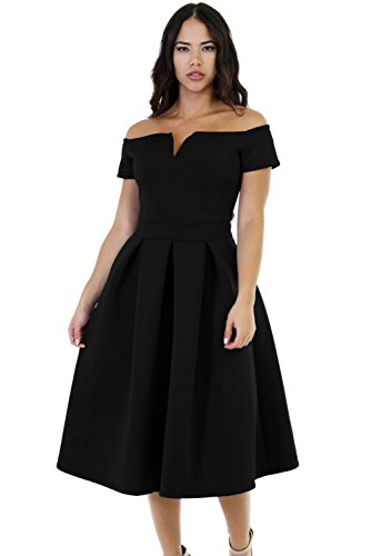 Lalagen women 39 s vintage 1950s party cocktail wedding swing for Cocktail xxl