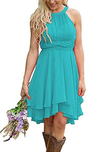 Meledy Women S Lovely Short Bridesmaid Dresses Knee Length