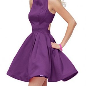 Raniwish 2017 Hot Homecoming Graduation Dress for Juniors Short Prom Ball Gown-2-Purple stock