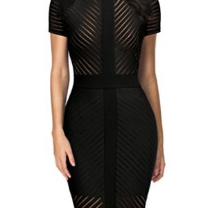 REPHYLLIS Women's Vintage Sexy Clubwear Night Cocktail Party Dress M Black