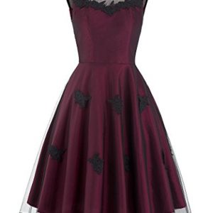 Round Neck Vintage Style Dress for Women Size S BP112-1