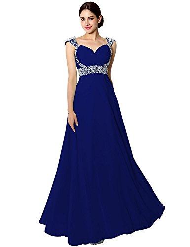 Sarahbridal Senior Prom Dresses Long Chiffon Ball Bridesmaid Gowns ...