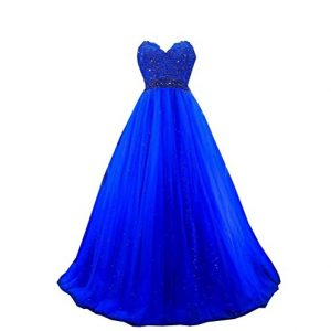 SHNE Women's 2018 New Arrival Empire Ball Gown Special Occasion Dresses for Juniors Royal Blue US6