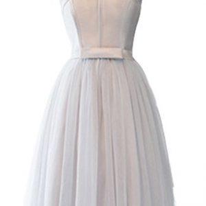 V.C.Formark Women's New Arrival Flower Satin Tulle Gown Short Cocktail Dress,V-Neck,M