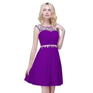 Vimans 2016 Short Purple Wedding Bridal Dresses New Arrival Party Gown, 16