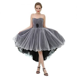 Vimans 2017 New Arrival High Lo Special Occasion Dress Princess Pleated Dress, 8