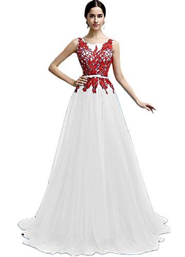 Vimans New Arrival Long White A Line Wedding Reception Dresses for ...