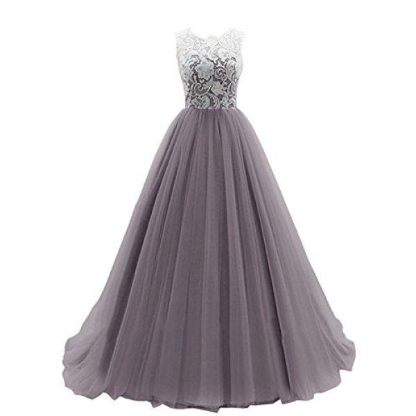 grey strapless prom dresses
