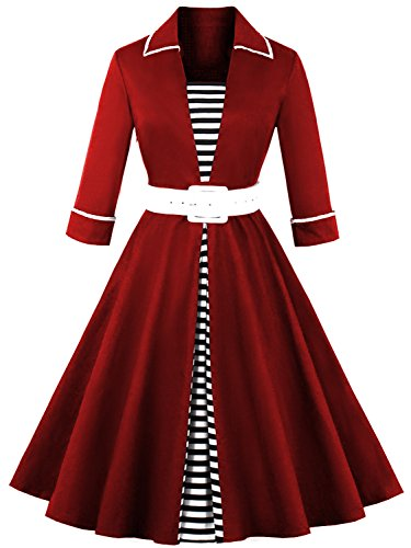 Womens Vintage 1950s Cocktail Dresses With Long Sleeves
