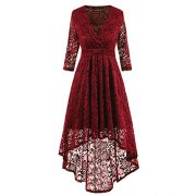 Adodress Women's Short 1/2 Sleeve Floral Lace Prom Formal Dresses Retro Vintage Swing Party Dress Cocktail Dresses